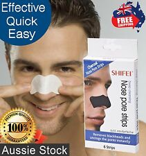 Shifei Deep Cleansing Nose Pore Strips For Men 6pk - Remove Blackheads