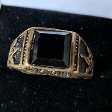 Very Large Faux Onyx Masonic Ring (size Z+++)