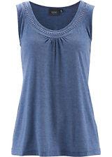 BPC Damen Top Tank Shirt Tunika Bluse T-Shirt Indigo 961101