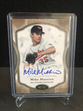 New listing MIKE MUSSINA 2020 TOPPS TIER ONE ON CARD AUTO AUTOGRAPH  #'D 009/100