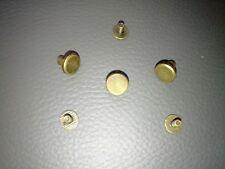 10 Schraubnieten, runder  Flachkopf, Alt-Messing, 8 mm