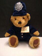 "Nwt Harrod's Knightsbridge Police Bear Bobby 12"" Sitting Plush Teddy London Cop!"