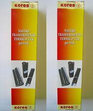 KORES - 2 Pezzi - ROTOLO FAX TRASF. TERMICO TTR per PHILIPS MAGIC 3