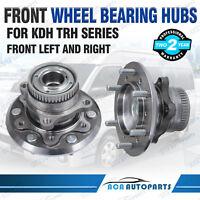 2PCS Front Wheel Bearing Hub for Toyota Hiace KDH200R 220R 223R TRH221R TRH201R