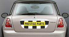 Bandera a cuadros Trasero Número De Matrícula Envolvente Calcomanía Para BMW Mini R56 CHEQUE patrón