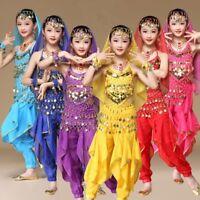 Girls Kids Belly Dance Pants Trousers Suit Children Festival Party Fancy Costume
