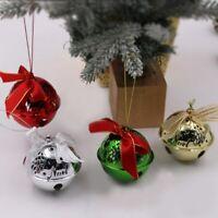 6.3cm Large Christmas Bell Xmas Tree Hanging Bowknot Metal Jingle Bells Pendants