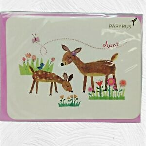 """PAPYRUS MOTHERS DAY CARD """"Aunt"""" NIP"""
