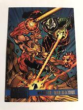 1995 DC Versus Marvel Skybox Trading Cards #68 Warrior/War Machine