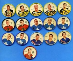1961-62 Shirriff Plastic Hockey Coins Group