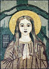 Lady Pray Religious Marble Mosaic Fg346