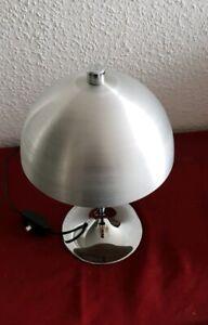 Lampe 70 er Tischlampe Tuilp Plizlampe Retro Vintage Panton Space chrom