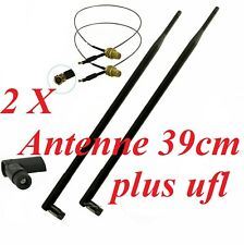 2 Stück 13 dBi Antenne Adapter RP-SMA u-FL Wlan WiFi Speedport Fritz!Box NEU