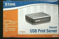 D-Link Express Ethernet Usb Print Server, Dp-301U, Pc or Mac, 10/100 Wired, New!