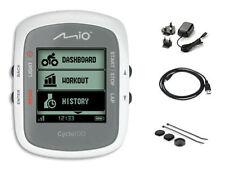 Compteurs et GPS de vélo blanc