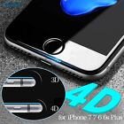 4D Curved Full Cover Tempered Glass Screen Protector For Apple Iphone 7 6s Plus