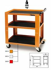 Beta Tools C51 Orange 3-Level Garage Workshop Parts & Tool Trolley Cabinet