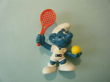 2.0093 TENNIS PLAYER 2 SMURF, OMO PROMOTIONAL – GENTLY USED