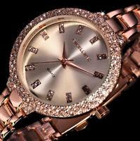 kleine Excellanc Uhr Damenuhr Armbanduhr Rosegold Silber Farben Metall Strass