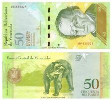 VENEZUELA 50 BOLIVARES 2011 UNC banconote P-92e