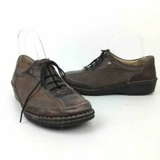 Finn Comfort Womens Oxfords Brown Leather Shoes Lace Up Germany 38 D 7 7.5 Wide