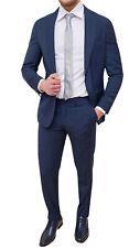 Abito completo uomo Sartoriale blu scuro a righe gessato elegante cerimonia