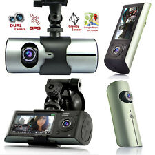 GPS Tracker Dash-Cam Dual Camera Driving Recorder Front+Rear Support Google Map