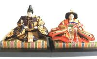Hina-Ningyo Japanese Doll KIMONO Emperor Empress Traditional Figure with Base