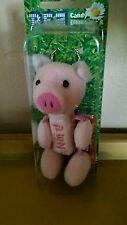 Plush PIG PEZ Petz Dispenser Collectible Keychain Barnyard Babies 2005