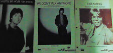 Cliff Richard Dreaming,Give a little bit more,We don't talk anymore  Sheet Music