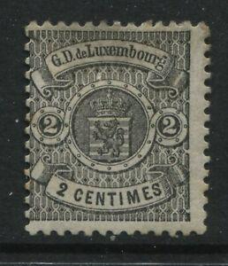 Luxembourg 1875 2 centimes  unused no gum