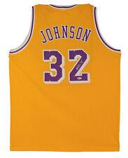Lakers Magic Johnson autêntico Jersey Amarelo Assinado Autografado Bas testemunhada 2