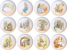 Set of 12 Peter Rabbit CERAMIC Drawer Pulls Dresser Drawer Cabinet Knobs