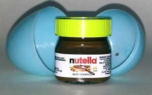 NUTELLA mini-glass jar w/ green top 1.05oz Made in Italy -Blue Egg Special-