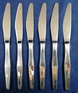 Christofle Léo Sabatini 6 couteaux de table métal argenté modèle Orly réf/A29/1