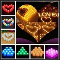 24PCS Led Tea Light Candles Tealight Flameless Wedding Decor Battery Operated