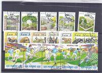 Francobolli - Stamps - San Marino -  3 serie -  usati - 1994 - Sport - cani