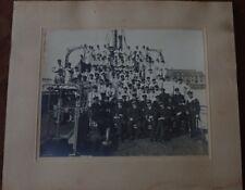 MARINE NATIONALE~PHOTO EQUIPAGE+OFFICIERS-MARINIERS+OFFICIERS~Circa 1920