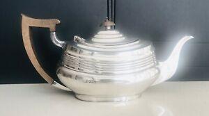 Rare antique English George V sterling silver tea pot Sheffield hallmarked c1918