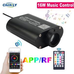 Fibers Optic Light Device Smart APP Music Control Car Roof Starry 16W LED Engine