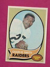 1970 TOPPS # 199 RAIDERS CHARLIE SMITH NRMT-MT CARD (INV# A6456)
