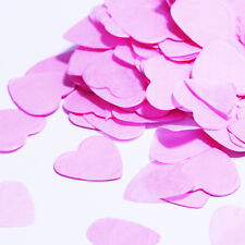 Vincenza PAPER HEARTS RED WHITE RAINBOW PINK Confetti Wedding Table Occasion UK
