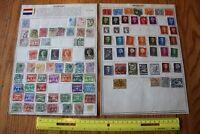A19 Lot of Netherlands Stamps on Minkus binder Pages