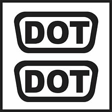 2x DOT Replacement Helmet Vinyl Decals | DOT Approved Stickers