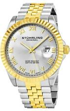 Stuhrling 599G Men's Two Tone Stainless Steel Swiss Quartz Link Bracelet Watch