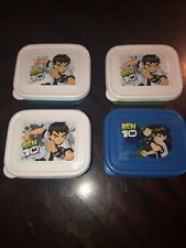 Ben 10 Ten Snack Storage Container Set Of 4 Lunch Box Dishes