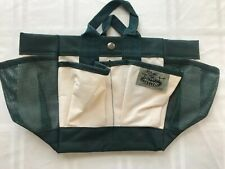 The Garden Place Gardening Organizer Tote Bag Beige Green 6 Outer Pockets TS9