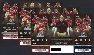 2016-17 NFL PLAYOFF SEAHAWKS & PACKERS @ FALCONS UNUSED FOOTBALL TICKETS SHEET