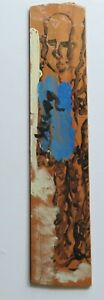 """Purvis Young: Tall Cool Dude Listens, Then He Sings 35 """"H x  8""""W / Wood / COA"""