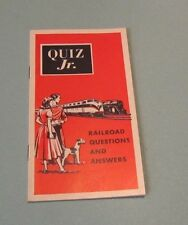 1951 Association of American Railroads Quiz Book 100 Questions and Answers